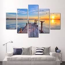 home office artwork. Cozy Office Depot Canvas Prints Panel Peaceful Lake Sunset Artwork Canvas: Large Size Home