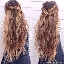 Boho Mix Of Textured Braids Beachy Waves Glambytoriebliss