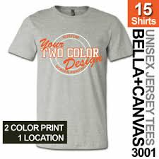 Bella Canvas 3005 Color Chart Details About 15 Custom Screen Printed Bella Canvas Unisex T Shirts 2 Color Print 1 Location