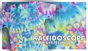 kaleidoscope ice tie dye technique