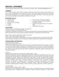 Childcare Resume Template Enchanting Child Care Resume Sample Fancy Child Care Resume Template For Child