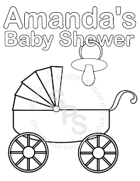 Baby Shower Coloring Pages To Download And Print For Free