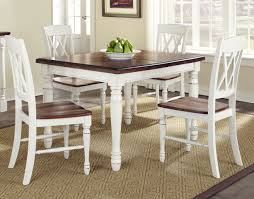 Kitchen Home Styles Monarch White And Oak Kitchen Dining Room Country Kitchen Table And Chairs Set