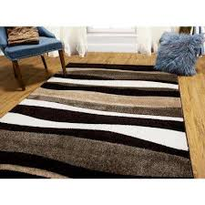 indoor area rug bazaar zag dark brown 8 ft x 10 ft indoor area rug