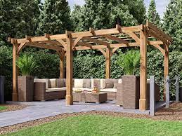 artemis wooden pergola garden kit