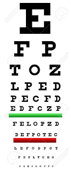 Vision Acuity Chart Eye Chart Illustration Also Called Snellen Chart It Is An Eye