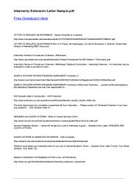 Sample Letter Of Internship 10 Printable Internship Letter Sample Forms And Templates