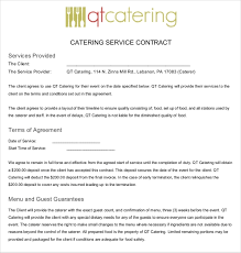 Catering Agreement 9 Catering Contract Examples In Pdf Word Examples