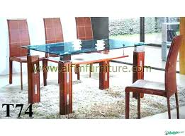 dining table glass top design full size of round glass dining table with wood legs on