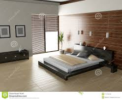 Modern Interior Bedroom Modern Interior Of A Bedroom Room Royalty Free Stock Photo Image