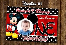 mickey mouse 1st birthday invitations inside keyword