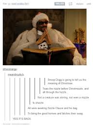 Snoop Dogg tells a Christmas story : funny