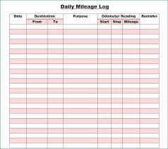 Mileage Log Printable Interesting 30 Printable Mileage Log Templates