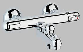 grohe 1000 thermostatic bath shower mixer. grohe 34334 34336 grohtherm 1000 exposed thermostatic bath/shower mixer bath shower a