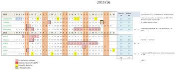 Calendario Curso 2015 16 Comunicado Stecyl I Al Borrador Del