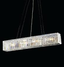 linear crystal chandelier rectangular crystal chandelier pertaining to modern dining room habitat linear crystal chandelier