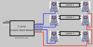 f32t8 ballast wiring diagram wiring diagram for you • how to replace 3 lamp parallel ballasts electrical 101 rh electrical101 com fluorescent ballast wiring diagram t8 ballast wiring diagram