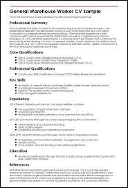 Warehouse Manager Resume Sample From Warehouse Worker Resumes