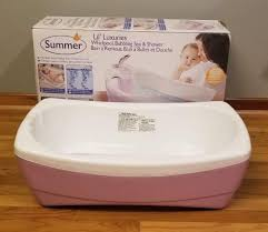 summer lil luxuries whirlpool bubbling bath spa shower infant tub no sling