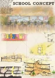Design Sheets Of Architecture Students Habban Iv School Concept Sketches Architecture Concept