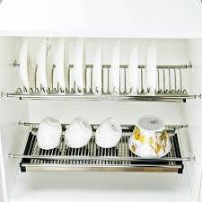 Dish Rack For Kitchen Cabinet Stainless Steel Kitchen Cabinet Plate Rack Stainless Steel