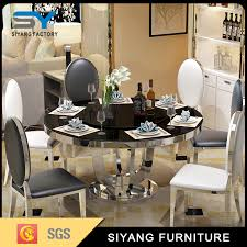 hotel furniture glass dining round table