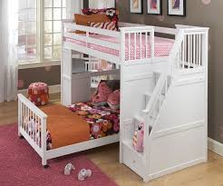 white bunk bed with stairs. Exellent Bed White Loft Bed With Stairs Photo And Bunk