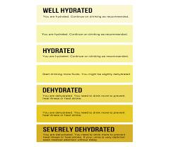 Urine Hydration Chart Australia Assessing Dehydration
