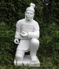 large kneeling chinese warrior home or