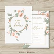 Invitation Free Download Delectable Wedding Invitation With Floral Circle Vector Free Download