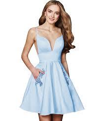 Short Light Blue Grad Dresses Short Light Blue Homecoming Dresses