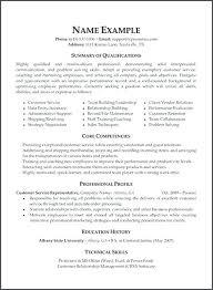 Resume Summary Of Qualifications Samples Joefitnessstore Com