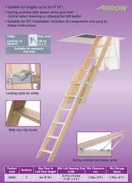 abru 34004 timber sliding 2 section loft ladder