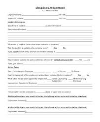 Employee Write Up Policy Template Employee Disciplinary Action Report Form Sample Template