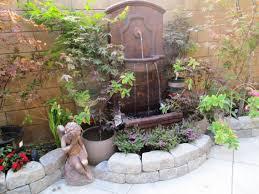 outdoor wall fountains garden home reviews cool outdoor wall fountains
