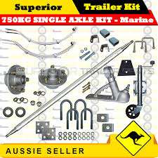 superior diy 750kg single axle trailer kit eye to slipper springs marine
