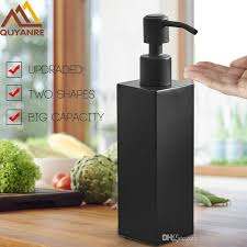quyanre matte black hand soap dispenser stainless steel wall mounted deck mounted circular black bathroom accessories nz 2019 from rozinsanitary1