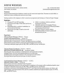 Telecom Project Manager Resume Sample Livecareer