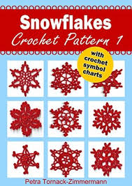Crochet Snowflake Pattern Chart Snowflakes Crochet Pattern 1 With Crochet Symbol Charts By