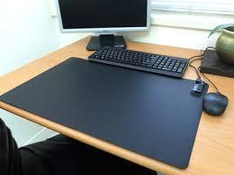warmspot standard heated desk pad foot warmer low power consumption 60w direct heat 24 x 14 com