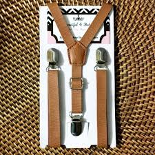 leather suspenders mens suspenders cognac suspenders brown suspenders rustic wedding suspenders