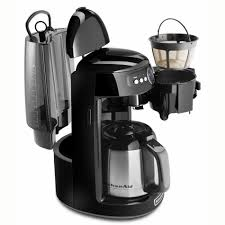 kitchenaid kcm1203ob 12 cup coffee maker w glass carafe programmable onyx black