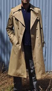 vintage mens trench coat beige tan coat mens trenchcoat