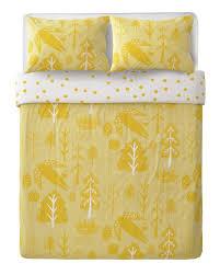 yellow king size flying bird duvet set