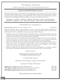 paralegal resume examples