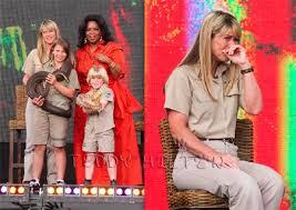 terri irwin new husband. steve irwins family remembers him on oprah terri irwin new husband