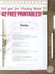 Printable Wedding Planner How To Put Together Your Perfect Free Wedding Binder 42