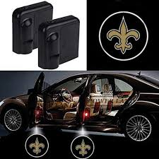 Custom Door Lights That Shine On The Ground For New Orleans Saints Car Door Led Welcome Laser Projector Car Door Courtesy Light Suitable Fit For All Brands Of Cars New Orleans Saints