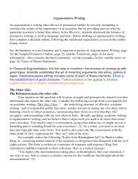 Abortion Argument Essay Example Of Argumentative Research Paper Apa
