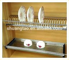 wall mounted dish rack ed stainless steel kitchen cabinet wall mounted dish rack